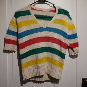 Sweaters - Colorful Striped sweater